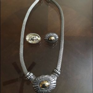 Silver and gold clip set